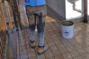 Impermeabilizzazione terrazza - Applicazione di Dws Gloss sul terrazzo